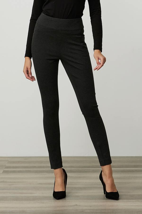 Joseph Ribkoff Straight Leg Pants Style 214222. Charcoal Grey