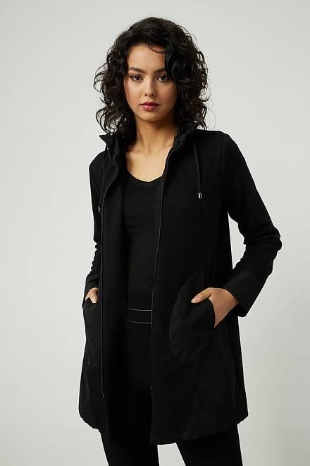 Joseph Ribkoff Zip-Up Hooded Jacket Style 214225