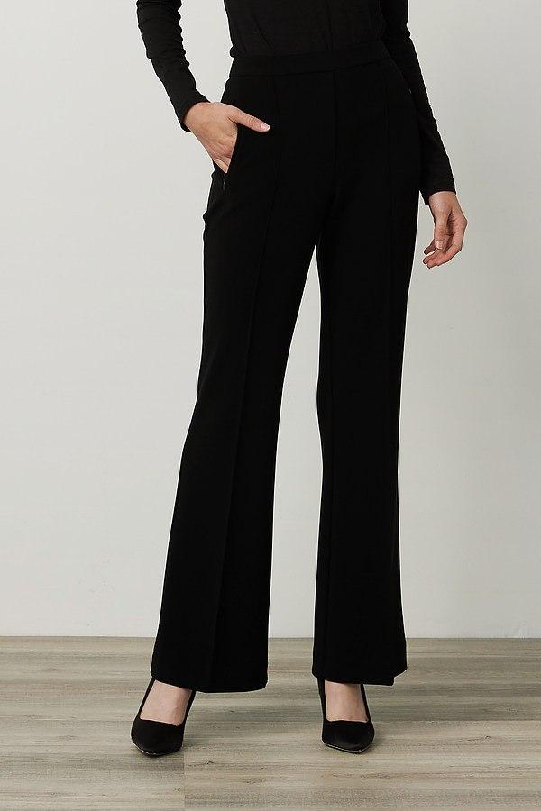 Joseph Ribkoff PinTuck Flared Pants Style 214227. Black