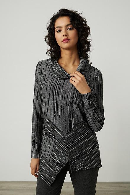 Joseph Ribkoff Abstract Knit Top Style 214231