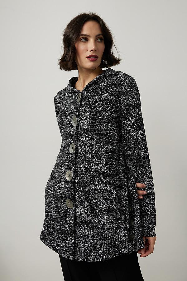 Joseph Ribkoff Knit Jacket Style 214244. Black/silver/grey