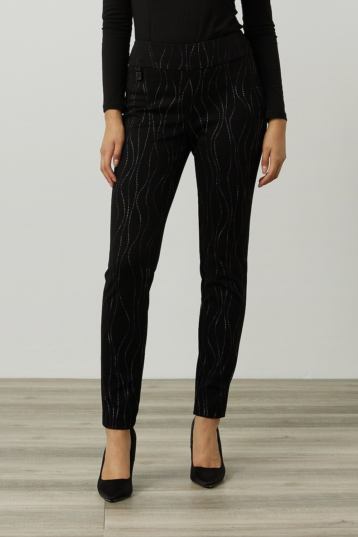 Joseph Ribkoff Black/Multi Pants Style 214297