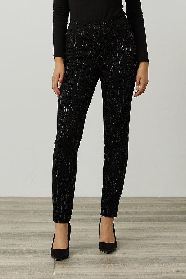 Joseph Ribkoff Embellished Pants Style 214297. Black/Multi