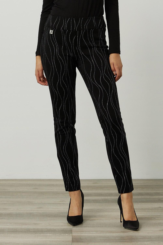Joseph Ribkoff Black/Silver Pants Style 214297