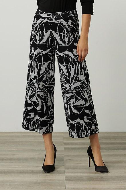 Joseph Ribkoff Metallic Floral Jacquard Pants Style 214301