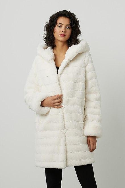 Joseph Ribkoff Reversible Faux Fur Hooded Coat Style 214913