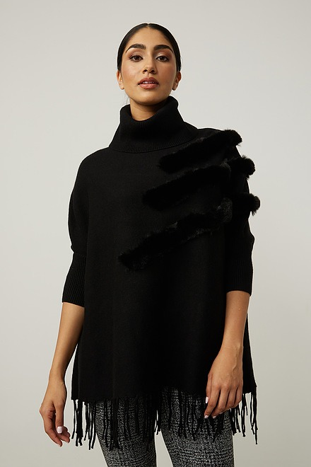 Joseph Ribkoff Faux Fur Poncho Style 214916
