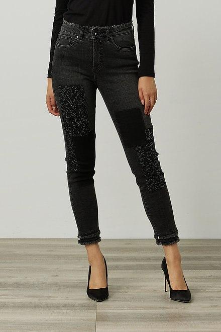Joseph Ribkoff Rhinestone & Frayed Jeans Style 214924
