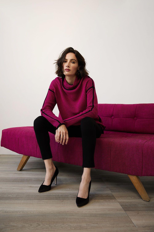 Joseph Ribkoff Chemises et blouses Black/dahlia Style 214928