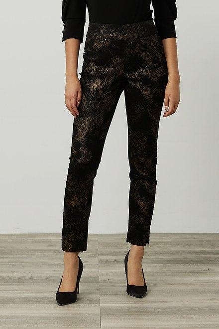 Joseph Ribkoff Metallic Print Pants Style 214938