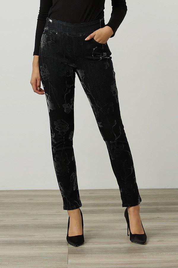 Joseph Ribkoff Floral Print Pants Style 214948. Charcoal/Dark Grey