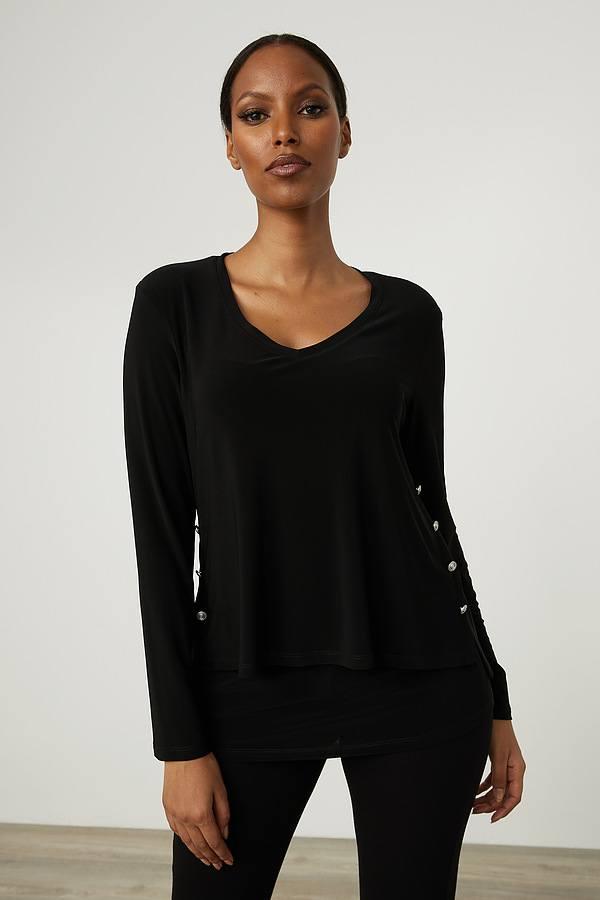 Joseph Ribkoff Embellished Side Top Style 214224. Black