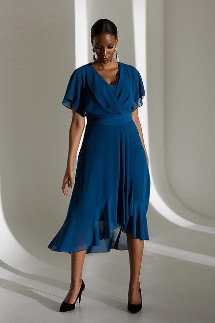 Joseph Ribkoff Wrap Chiffon Dress Style 213351