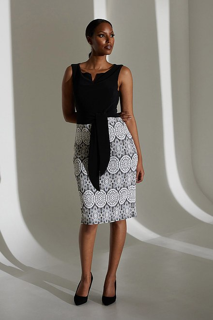 Joseph Ribkoff Lace Motif Dress Style 213717