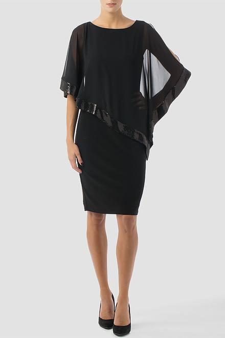 Joseph Ribkoff Black/Black Dresses Style 154377